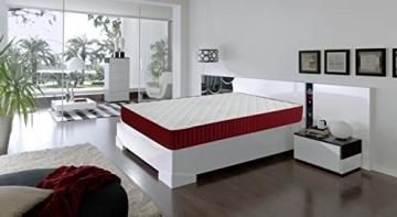 Dormio Zafiro - Colchón viscoelástico, 90 x 190 x 21 cm, color blanco -