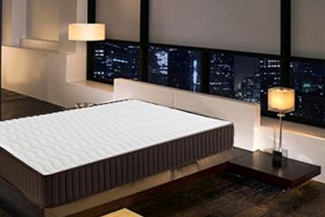 Dormio Esmeralda - Colchón ViscoSoft reversible, 135 x 190 x 24 cm, color blanco -